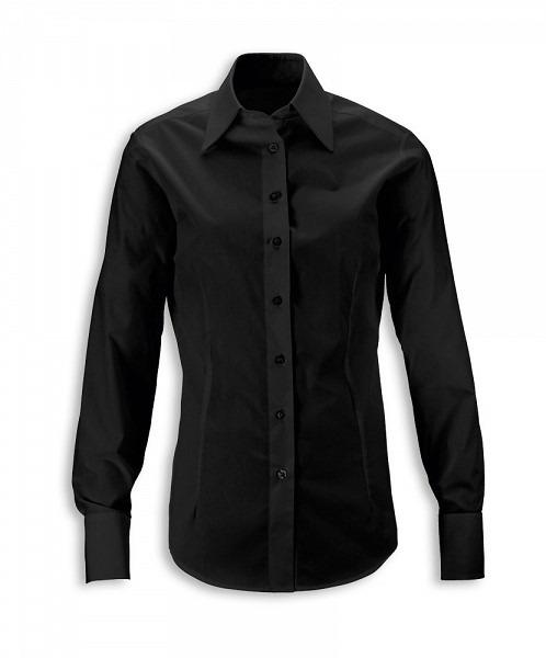 58299b7819956f Elastyczna koszula damska czarna. odzież Dickes Chef - sklep Kupuj ...